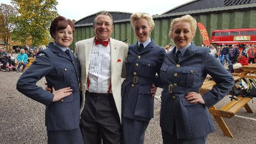 Blue Bird Belles were in fine voice at Duxford Battle of Britain Airshow this September. More networking for Max !